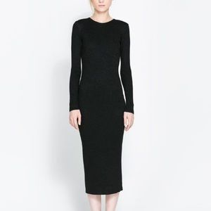 Zara long sleeves ribbed dress